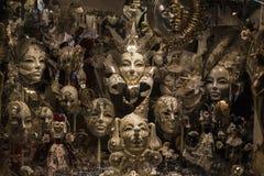 Разнообразие венецианских маск масленицы Стоковое фото RF