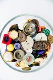 Разнообразие винтажных кнопок Стоковые Изображения RF