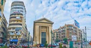 Разнообразие в архитектуре ` s Александрии, Египте Стоковые Изображения