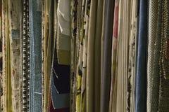 Разнообразие декоративных образцов ткани Стоковые Изображения