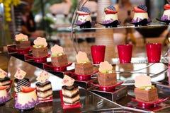 Разнообразие десерта стоковая фотография