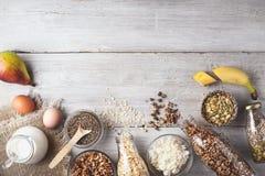 Разнообразие здорового модель-макета концепции еды Стоковые Фотографии RF
