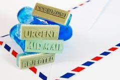 разнообразие избитой фразы воздушной почты Стоковые Изображения