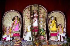 Разнообразие идолы Maa Durga на Kolkata Стоковая Фотография