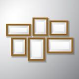 Разнообразие картинных рамок деревянное Стоковые Изображения RF