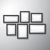 Разнообразие картинных рамок черное Стоковое Фото
