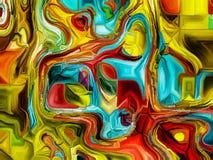 Разнообразие клетчатой реальности Стоковое Изображение