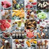 Разнообразие коллажа мороженого стоковые фотографии rf