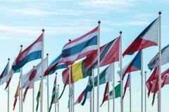 Разнообразие международных флагов Стоковая Фотография RF
