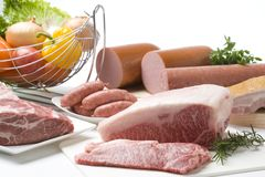 разнообразие мяс Стоковое фото RF