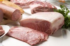 разнообразие мяс Стоковое Фото