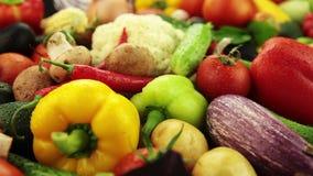 Разнообразие овощей сток-видео
