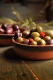 Разнообразие оливок стоковая фотография rf