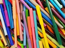 разнообразие отметок цвета, который нужно нарисовать Стоковая Фотография