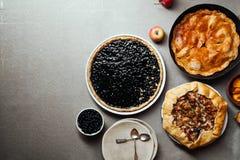 Разнообразие пирогов осени Стоковые Изображения RF