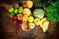 Разнообразие плодоовощ стоковое фото rf