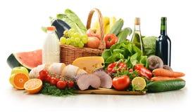 разнообразие продуктов бакалеи состава Стоковое Фото