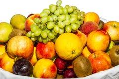 Разнообразие плодоовощ изолированное на белизне Стоковые Изображения