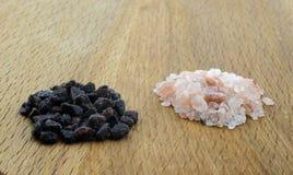 Разнообразие различного Hawaiian солей моря, черных и красных, серого Celtic, розовое гималайского, 2017 Стоковая Фотография