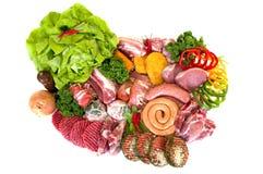 разнообразие свежего мяса Стоковое Фото