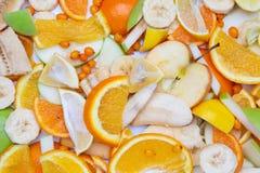 Разнообразие свежих фруктов для делать сок или smoothie над белизной Стоковое фото RF