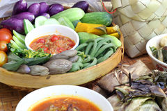 Разнообразие северной еды Таиланда стоковая фотография