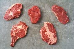 Разнообразие стейков Стоковая Фотография RF