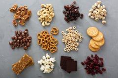 Разнообразие съемки здоровых закусок надземной Стоковая Фотография