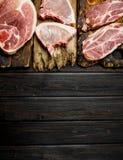 разнообразие сырцовой свинины стоковое изображение