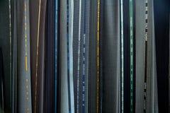 разнообразие текстуры костюма ткани Стоковая Фотография RF