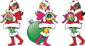 Разнообразие хелперов Санты рождества Стоковое фото RF