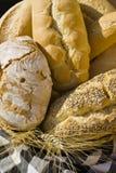 разнообразие хлеба корзины Стоковые Фото