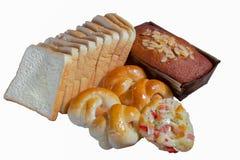 Разнообразие хлеба и торта стоковое фото