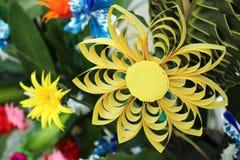 Разнообразие цветков Origami и ремесла лист Стоковые Изображения RF