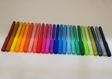 разнообразие цветов, комплект отметок Стоковые Изображения RF