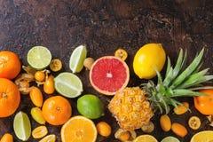 Разнообразие цитрусовых фруктов Стоковая Фотография