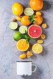 Разнообразие цитрусовых фруктов Стоковое фото RF