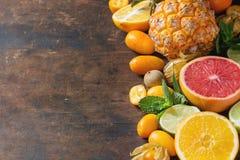 Разнообразие цитрусовых фруктов Стоковая Фотография RF