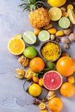 Разнообразие цитрусовых фруктов Стоковые Фотографии RF