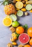 Разнообразие цитрусовых фруктов Стоковое Изображение