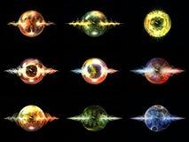 Разнообразие частицы волны Стоковые Изображения