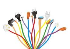 разнообразие электрической штепсельной вилки Стоковые Изображения