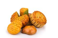 Разнообразие mooncakes для китайского торжества фестиваля средний-осени Стоковое фото RF