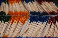 разнообразие toothpicks стоковые изображения