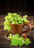 Разнообразия виноградины пальцев дам в коричневом цвете Стоковое Изображение