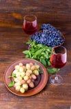 2 разнообразия виноградины Стоковые Изображения