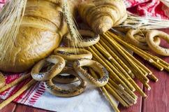 Разнообразия продуктов хлебопекарни Стоковые Фотографии RF