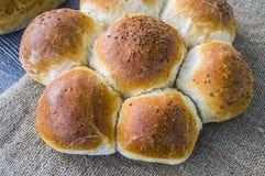 Разнообразия хлеба хлебца, разные виды хлеба на деревянном поле Стоковые Изображения