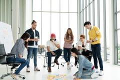 Разнообразная встреча стратегии команды дела стоковое фото rf