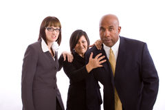 Разнообразная группа в составе бизнесмены изолированные на белизне Стоковые Фото